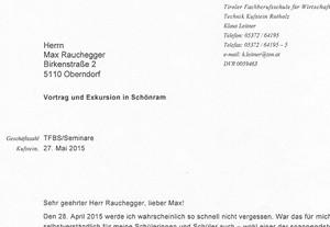 Brief von Dipl.-Päd. Ing. Klaus Leitner